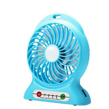 Portable Fan Mini Usb Rechargeable Fan with Power Bank and Flash Light for Traveling Fishing Camping Hiking Backpacking - BLUE