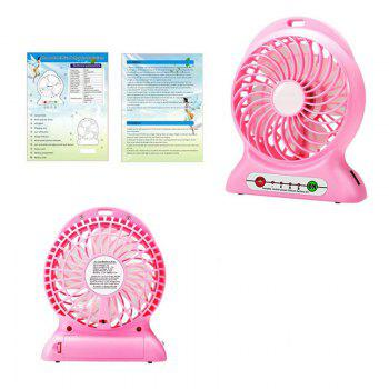 Portable Fan Mini Usb Rechargeable Fan with Power Bank and Flash Light for Traveling Fishing Camping Hiking Backpacking - RED