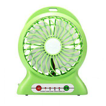 Portable Fan Mini Usb Rechargeable Fan with Power Bank and Flash Light for Traveling Fishing Camping Hiking Backpacking - GREEN GREEN