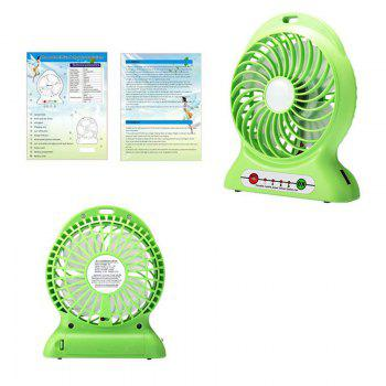 Portable Fan Mini Usb Rechargeable Fan with Power Bank and Flash Light for Traveling Fishing Camping Hiking Backpacking -  GREEN