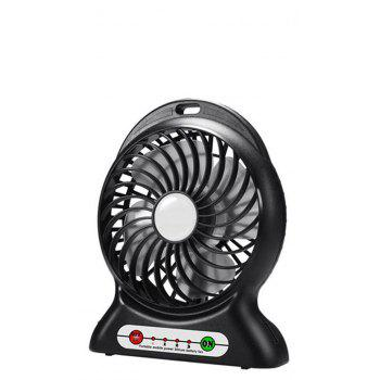 Portable Fan Mini Usb Rechargeable Fan with Power Bank and Flash Light for Traveling Fishing Camping Hiking Backpacking - BLACK