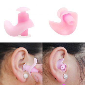 Professional Waterproof Soft Silicone Swimming Earplugs Adult Diving comfortable Anti-Noise EarPlug - PINK