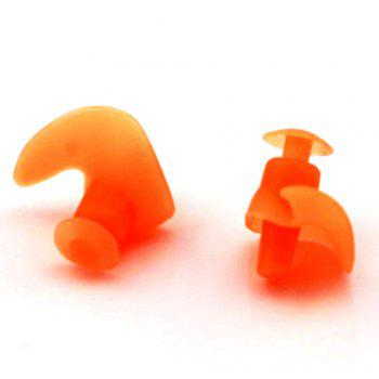 Professional Waterproof Soft Silicone Swimming Earplugs Adult Diving comfortable Anti-Noise EarPlug -  ORANGE