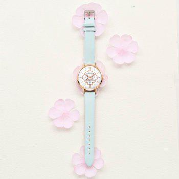 Lvpai P090-R Women Fashion Leather Band Quartz Watches - SKY BLUE