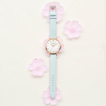 Lvpai P091-R Women Simple Leather Strap Quartz Watches - SKY BLUE