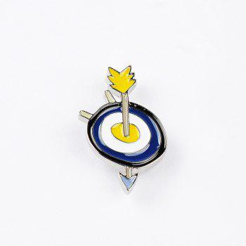 Spring Summer Shirt Women Colorful Enamel Brooch Necklace Set Bee Sunflower Set Heart Brooches Women Jewelry - COLORMIX
