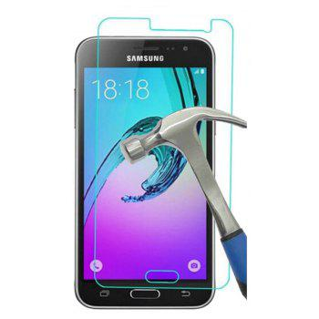 2PCS Screen Protector for Samsung Galaxy J3 2016 HD Full Coverage High Clear Premium Tempered Glass - TRANSPARENT