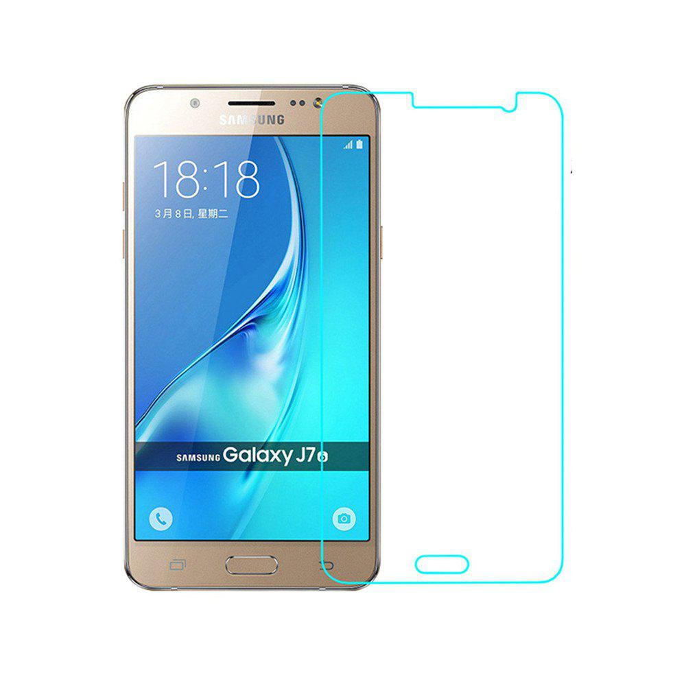 2PCS Screen Protector for Samsung Galaxy J7/J710 HD Full Coverage High Clear Premium Tempered Glass - TRANSPARENT