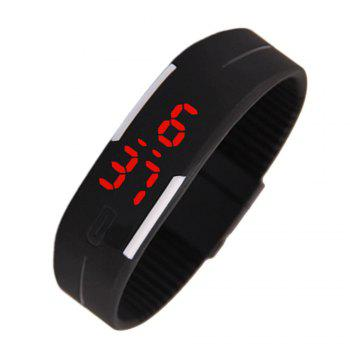 V5 New Fashion Candy Color LED Electronic Watch - BLACK