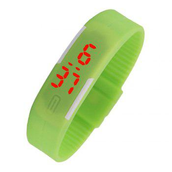 V5 New Fashion Candy Color LED Electronic Watch - GREEN