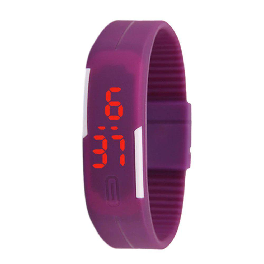 V5 New Fashion Candy Color LED Electronic Watch - PURPLE