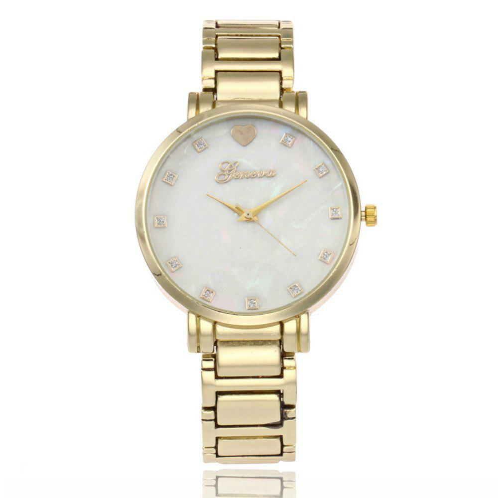 Geneva New Fashion Diamond Watches Love Heart Butterfly Quartz Watch - GOLDEN