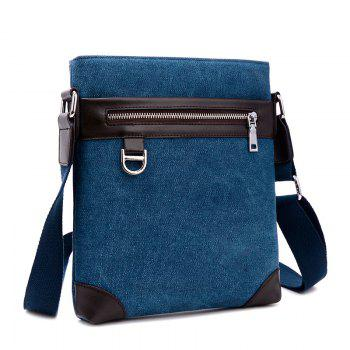Shoulder Bag Messenger Bag Splicing Vertical British Men'S Backpack -  BLUE