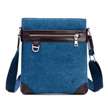 Shoulder Bag Messenger Bag Splicing Vertical British Men'S Backpack - BLUE BLUE
