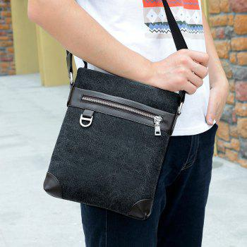Shoulder Bag Messenger Bag Splicing Vertical British Men'S Backpack -  BLACK