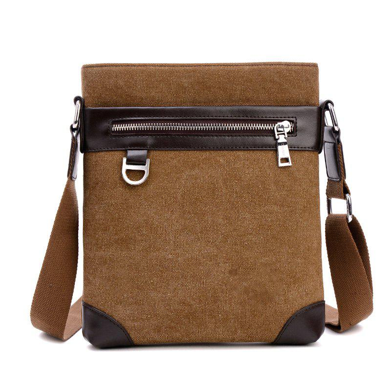 Shoulder Bag Messenger Bag Splicing Vertical British Men'S Backpack - COFFEE