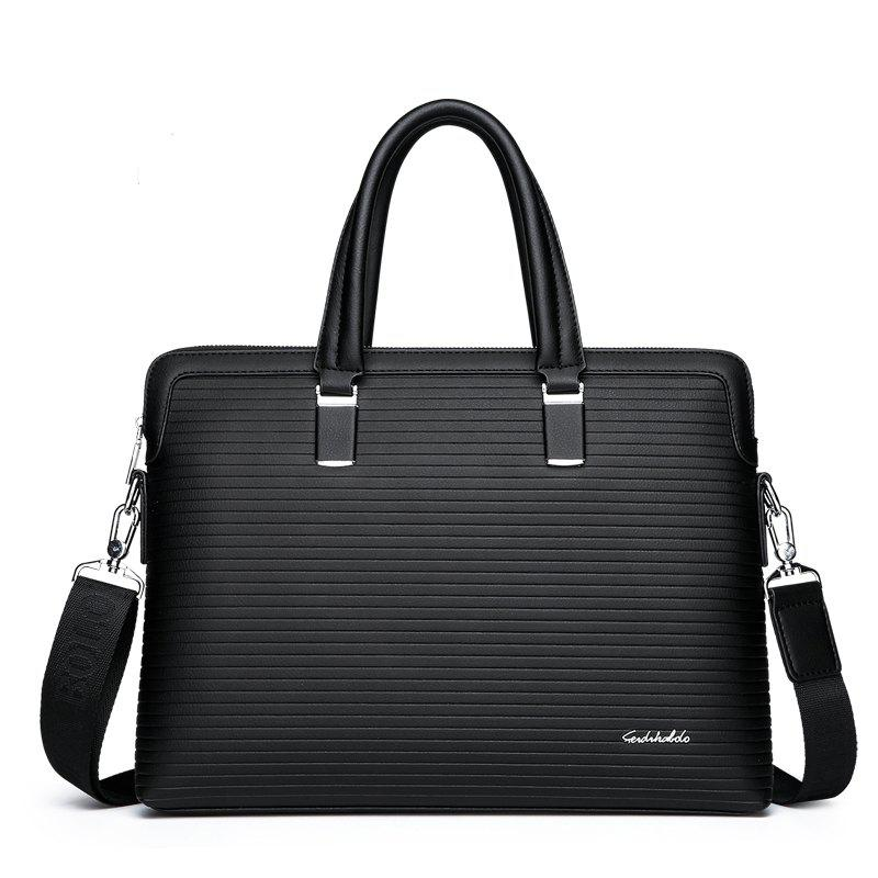 Shoulder Bag Handbag Briefcase Waterproof Computer Bag - BLACK