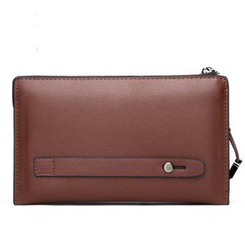 Clutch Hand Bag Long Wallet Multi-Function Card Package - BROWN