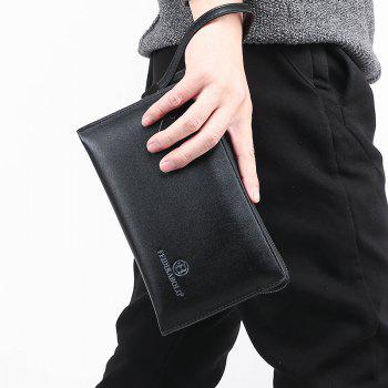 Clutch Hand Bag Long Wallet Multi-Function Card Package - BLACK