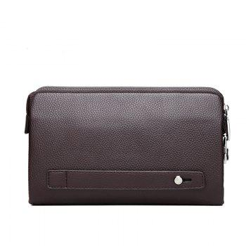 Long Wallet Purse Hand Large Capacity Male Hand Bag -  BROWN