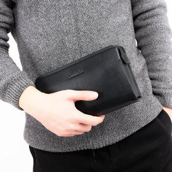 Long Wallet Purse Hand Large Capacity Male Hand Bag -  BLACK
