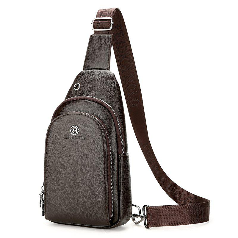 Business Chest Bag Outdoor Travel Shoulder Messenger Chest Bag - BROWN