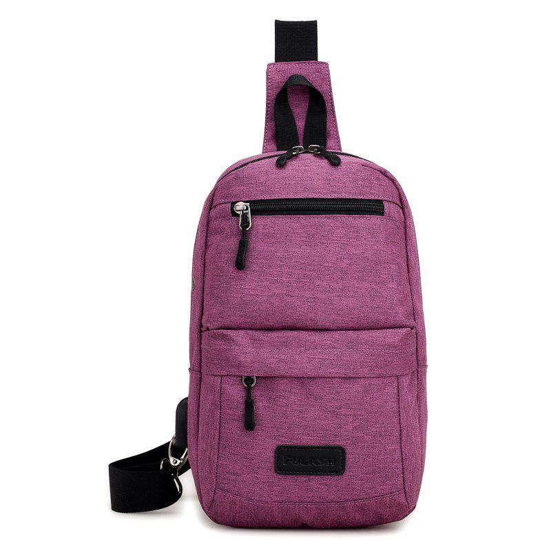 Breast Canvas Messenger Bag Shoulder Bag - PURPLE