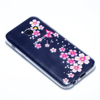 for Samsung A3 2017 Flower and Butterfly Painted Soft Clear TPU Mobile Smartphone Cover Shell Case - COLOUR