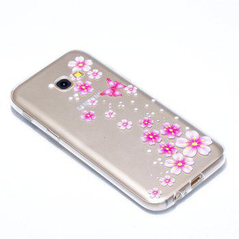 for Samsung A5 2017 Flower and Butterfly Painted Soft Clear TPU Mobile Smartphone Cover Shell Case - COLOUR