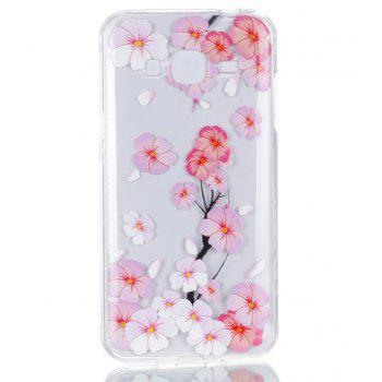 for Samsung J310 Peach Flower Painted Soft Clear TPU Mobile Smartphone Cover Shell Case - COLOUR