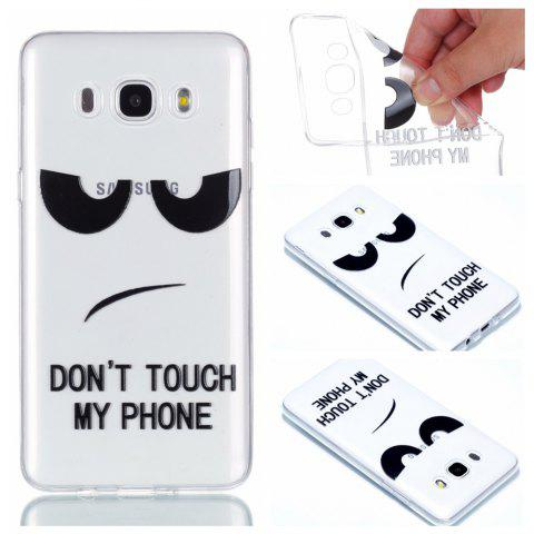 for Samsung J510 Eyes Painted Soft Clear TPU Phone Casing Mobile Smartphone Cover Shell Case - BLACK