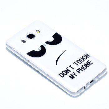 for Samsung J710 Eyes Painted Soft Clear TPU Phone Casing Mobile Smartphone Cover Shell Case - BLACK