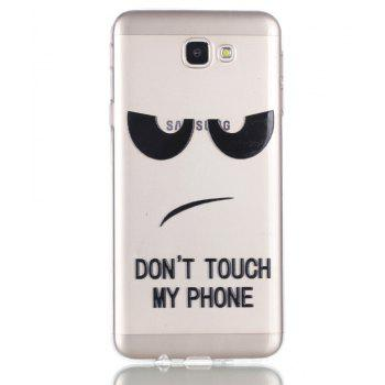 for Samsung J5 Prime Eyes Painted Soft Clear TPU Phone Casing Mobile Smartphone Cover Shell Case - BLACK