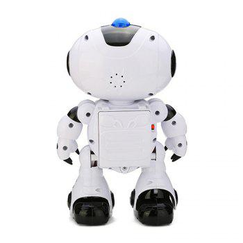 Electric Intelligent Cute Remote Controlled Musical Dancing Robot Walk Lightening Toy - WHITE