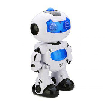 Electric Intelligent Cute Remote Controlled Musical Dancing Robot Walk Lightening Toy - WHITE WHITE