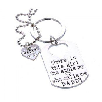 Fashion Necklace Key Ring -  SILVER