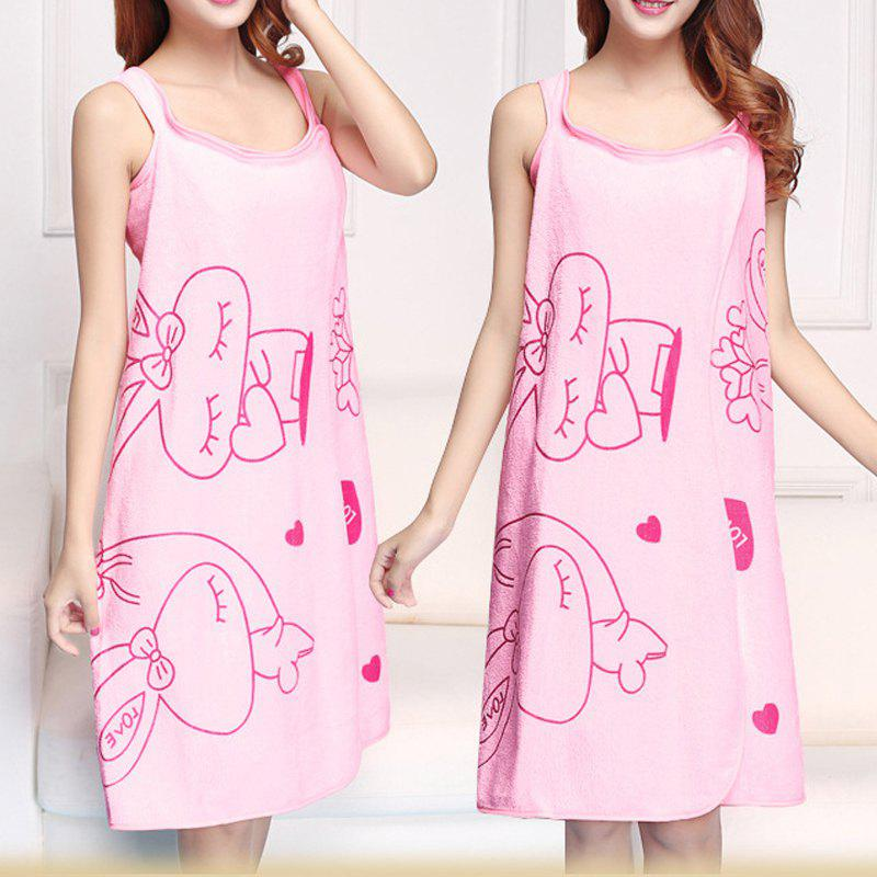 Bath Skirt Dreamy Cartoon Sweet Thick Water Absorbent Shower Towel - PINK 80CM X 130CM