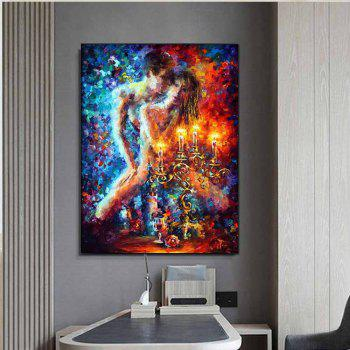 Modern Hand Painted Abstract Palette Knife Figure Art Lovers Oil Painting Living Room Home Wall Decor No Framed - COLORMIX 24 X 36 INCH (60CM X 90CM)