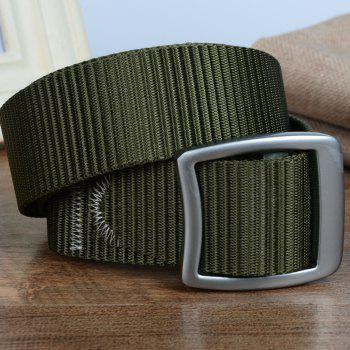 Quick Dry Nylon Weaving Elastic Waist Belt Breathable Outdoor Sport -  ARMY GREEN
