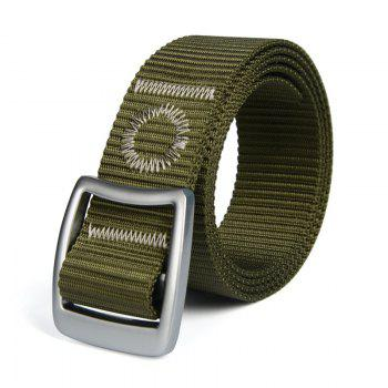 Quick Dry Nylon Weaving Elastic Waist Belt Breathable Outdoor Sport - ARMY GREEN ARMY GREEN