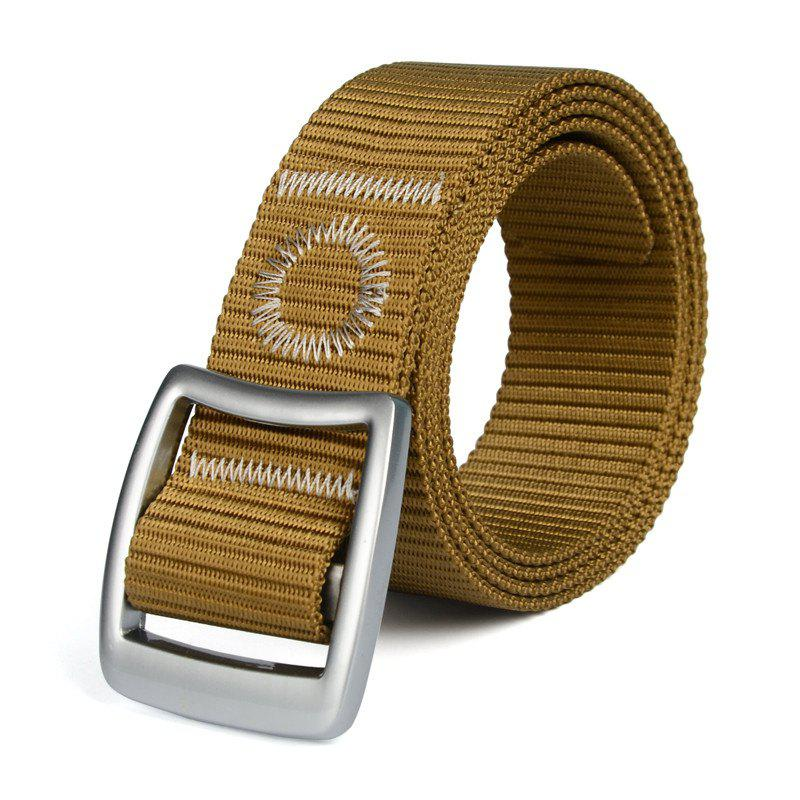 Quick Dry Nylon Weaving Elastic Waist Belt Breathable Outdoor Sport - BROWN