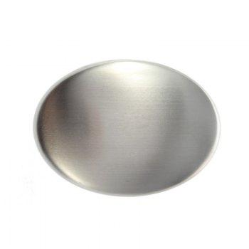 Stainless Steel Soap - Oval Shape Deodorize Smell From Hands Retail Magic Eliminating Odor Kitchen Bar - SILVER