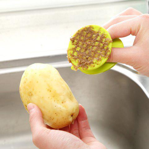 Multifunctional Radish Potatoes Peeled Fruit and Vegetable Clean Brush Scraper Scales Kitchenware Gadgets - GREEN