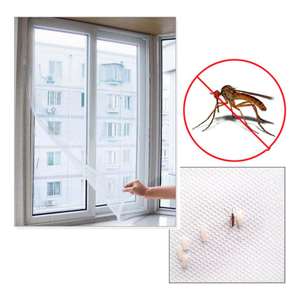 New Fashion Door Window Flyscreen Wire Net Fly Bug Mosquito Mesh Screen Curtain White - WHITE