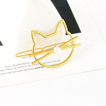 Fashion Hollow Cute Cat Hairpin - GOLDEN