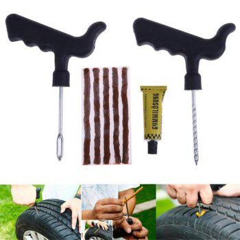 8Pcs Set Car Tire Repair Tool Kit for Tubeless Emergency Tyre Fast Puncture Plug Repair Tools with Glue - COLORMIX