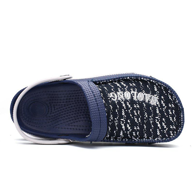 Summer Men's Flip Flops Mesh Uppers Beach Shoes - BLUE 45