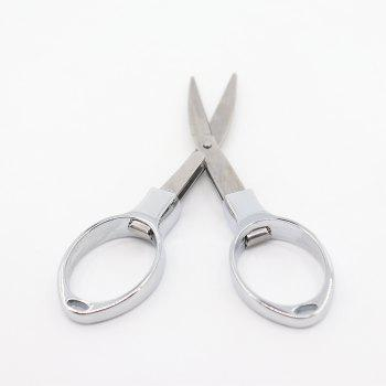 2pcs Stainless steel Folding Nail Scissors - silver - SILVER