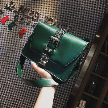 Simple Fashion Rivets Small Bag Shoulder Messenger Small Square Package -  IVY
