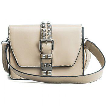 Simple Fashion Rivets Small Bag Shoulder Messenger Small Square Package - OFF-WHITE OFF WHITE